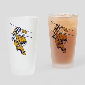 power lineman repairman Drinking Glass