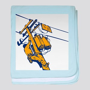 power lineman repairman baby blanket