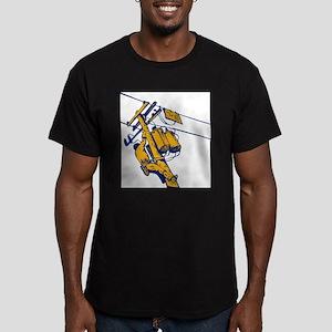 power lineman repairman Men's Fitted T-Shirt (dark