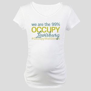 Occupy Lewisburg Maternity T-Shirt