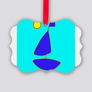Sailing Moon Sailboat Maven Picture Ornament