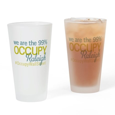 Occupy Raleigh Drinking Glass