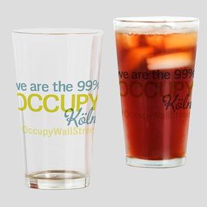 Occupy Köln Drinking Glass