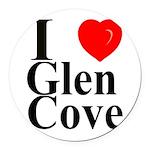 I Love Glen Cove Round Car Magnet