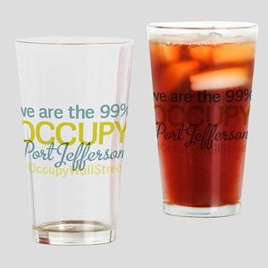 Occupy Port Jefferson Drinking Glass