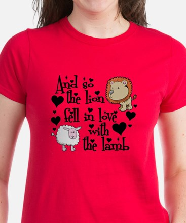 Lion fell in love with lamb Women's Dark T-Shirt