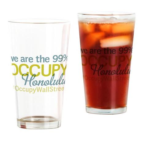 Occupy Honolulu Drinking Glass