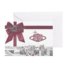 Las Vegas Pink Ribbon Christmas Cards (Pk of 10)
