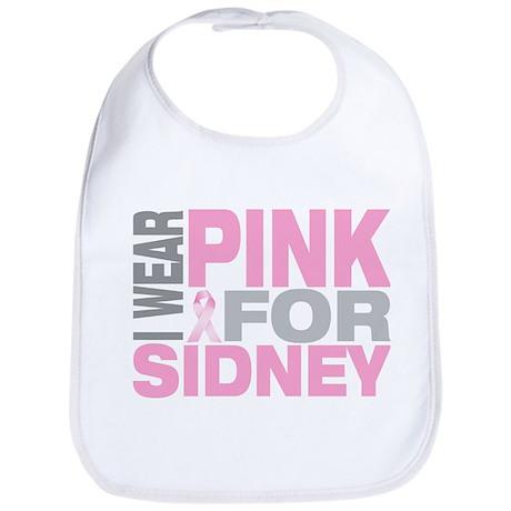 I wear pink for Sidney Bib