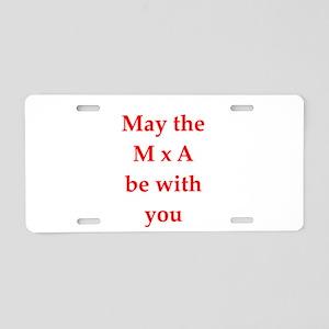 funny physics joke Aluminum License Plate