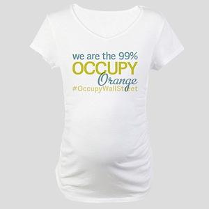 Occupy Orange Maternity T-Shirt