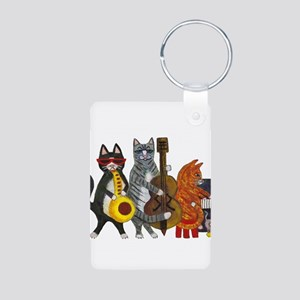 Jazz Cats Aluminum Photo Keychain