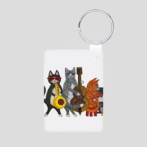 Jazz Cats Aluminum Photo Keychain