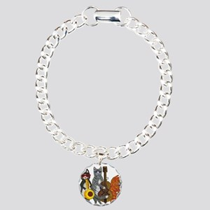 Jazz Cats Charm Bracelet, One Charm