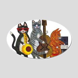 Jazz Cats 22x14 Oval Wall Peel