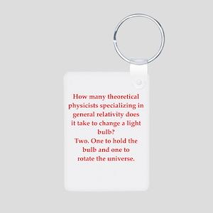 funny physics joke Aluminum Photo Keychain
