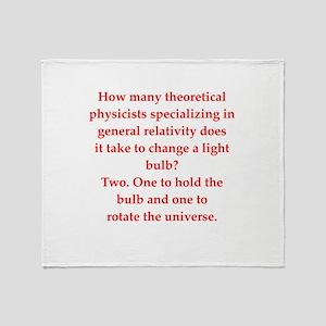 funny physics joke Throw Blanket