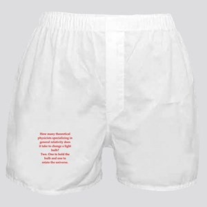 funny physics joke Boxer Shorts