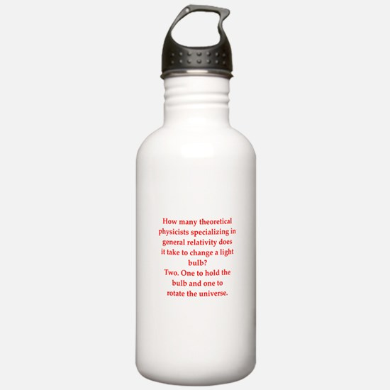 funny physics joke Sports Water Bottle
