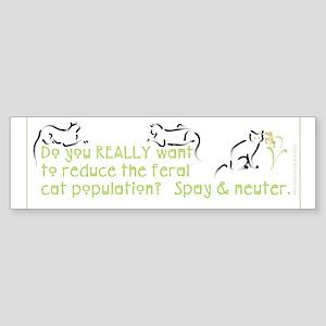 Spay & Neuter Bumper Sticker