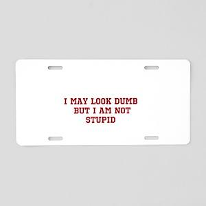 DumbvsStupid Aluminum License Plate