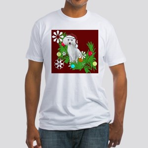 Poodle christmas Fitted T-Shirt
