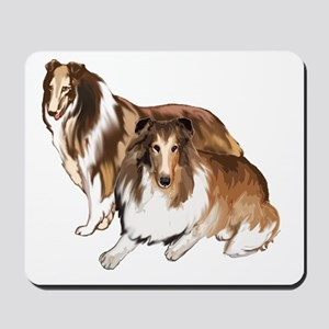 two collies Mousepad