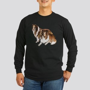 two collies Long Sleeve Dark T-Shirt