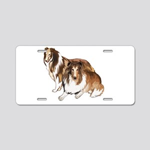two collies Aluminum License Plate