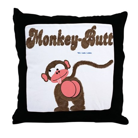 Monkey-Butt Throw Pillow