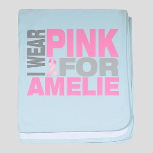 I wear pink for Amelie baby blanket