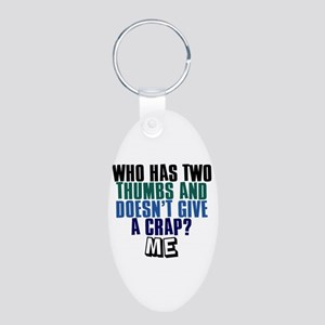 Bob Kelso Quote Aluminum Oval Keychain
