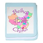 Beihai China Map baby blanket