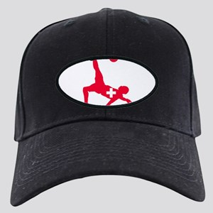Switzerland Soccer Black Cap