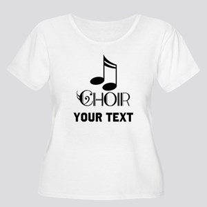 Personalized Choir Musical Women's Plus Size Scoop