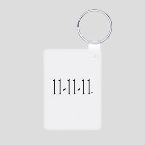 11-11-11 Aluminum Photo Keychain