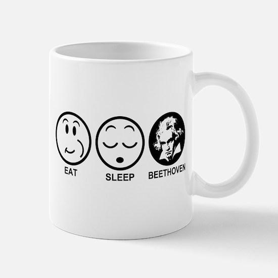 Eat Sleep Beethoven Mug