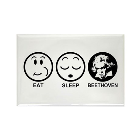 Eat Sleep Beethoven Rectangle Magnet