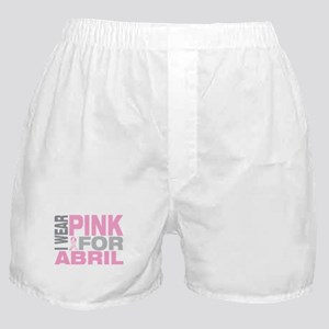 I wear pink for Abril Boxer Shorts