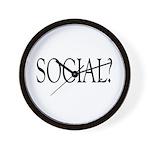 Social Wall Clock