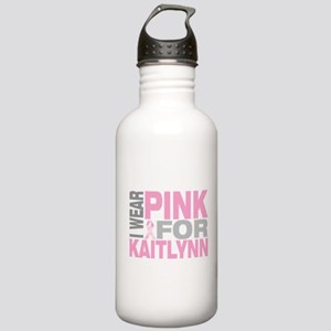 I wear pink for Kaitlynn Stainless Water Bottle 1.