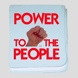 POWER TO THE PEOPLE IIII baby blanket