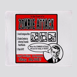 """Zombie Advice"" Throw Blanket"