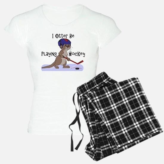 I Otter Be Playing Hockey Pajamas