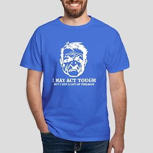 Tough Guy Hurt Feelings Dark T-Shirt