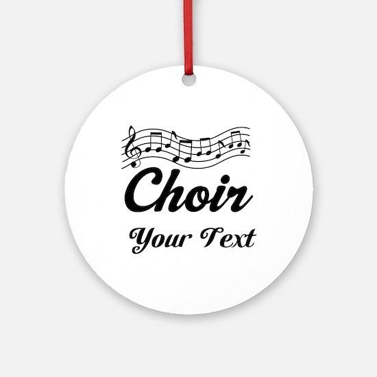 Custom Choir Musical Ornament (Round)
