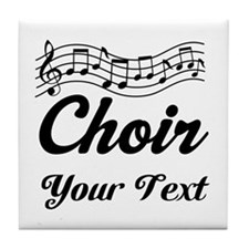 Custom Choir Musical Tile Coaster
