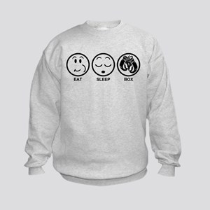 Eat Sleep Box Kids Sweatshirt