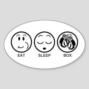 Eat Sleep Box Sticker (Oval)
