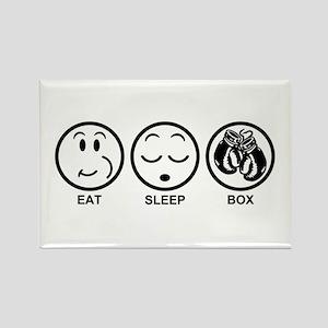 Eat Sleep Box Rectangle Magnet
